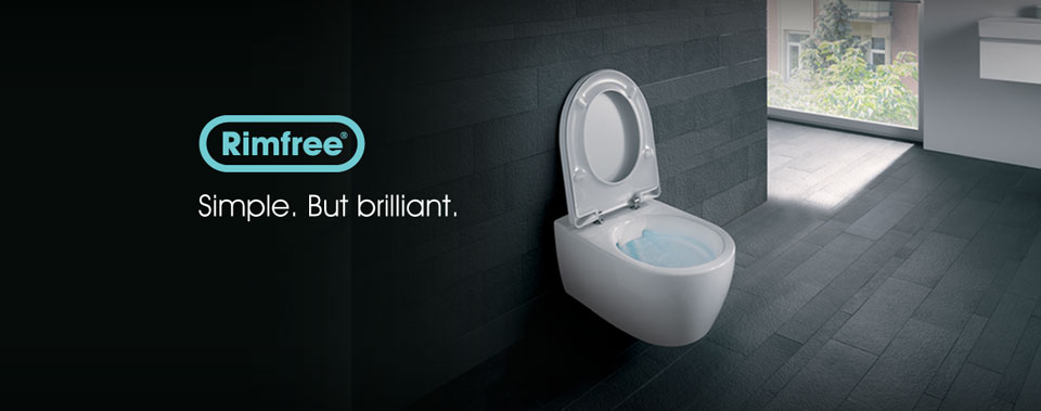 Rimfree toilet innovation