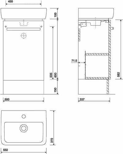 Wonderful E200 Plinth For 400x250 Handrinse Unit  Grey  Bathroom Furniture