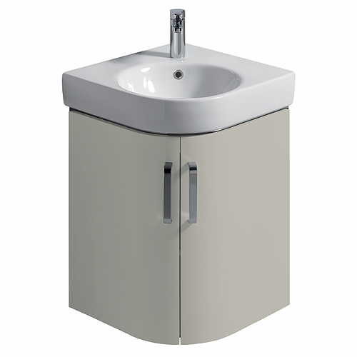 E200 Vanity Unit For Corner Handrinse Basin 500 - Grey