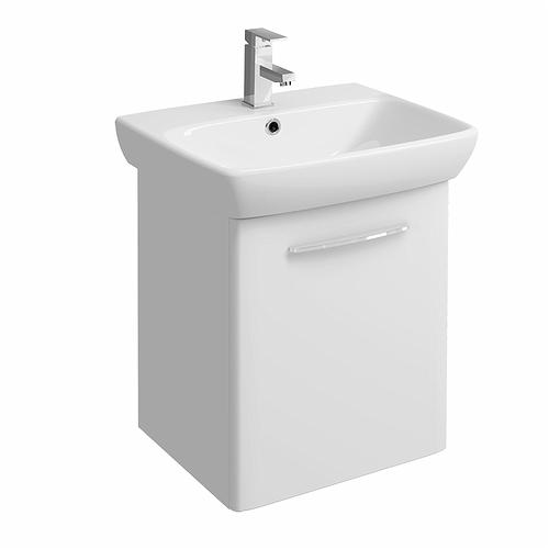 E100 Vanity Unit For Washbasin 600x460mm White Gloss Bathroom Furniture Twyford