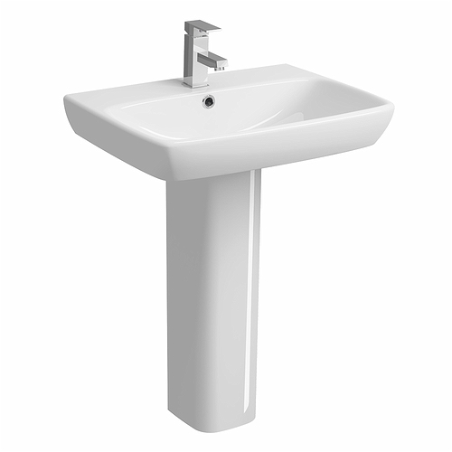 E100-Square-650x480mm-Washbasin-1-Tap