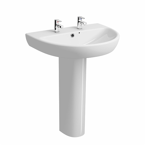 E100-Round-650x500mm-Washbasin-2-Tap