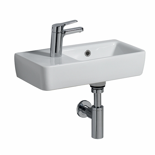 E200 Washbasin 500x250, 1 LH Tap, RH Bowl