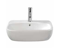 Moda Semi-recessed Washbasin, 550x445  1 Tap,inc Fixings & Template
