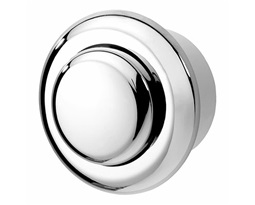Air button, Single Flush, Small button - Chrome Plated