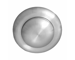 Air button, Single Flush, Small button- Stainless Steel (extended to fit  60-290mm panel depth)