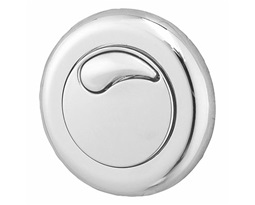 Air button, Dual Flush, Small button, Chrome Plated