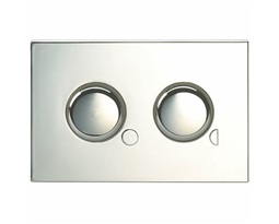 Flushplate, Dual Flush, Mini plate  TD - Chrome Plated
