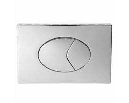 Flushplate, Dual Flush, Plastic large plate - Chrome Plated