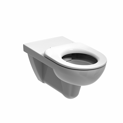 E100 Round Rimless Wall Hung Toilet Pan -700mm projection
