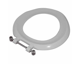 BS Toilet Seat Ring With Bottom Fix SS Hinge - White