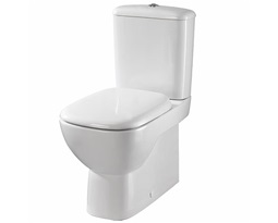 Moda Close Coupled Toilet Pan ,Fully shrouded, Multioutlet, Flushwise