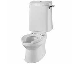 Sola School Rimless 300 Close Coupled Toilet Pan, HO