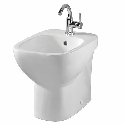 Moda Bidet, Floor Standing/BTW ,1 Tap, with Overflow