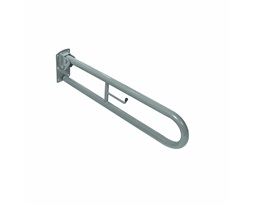 Doc.M  Hinged Support Rail - With Toilet roll Holder - Grey