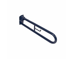 Doc.M  Hinged Support Rail - With Toilet Roll Holder - Blue