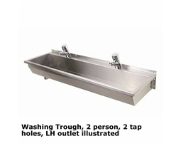 1200-Washing-Trough-LH-Outlet-2-Person-2-Tap