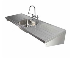 1800 Sink Single Central Bowl & Double Drainer 2T