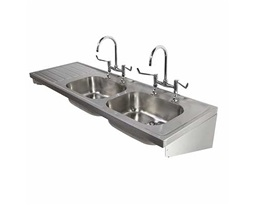 1800 Sink Double Bowl & Single LH Drainer 2T