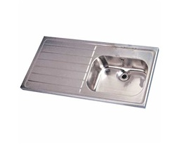 1200 Sink Single Bowl & LH Drain 0T, HTM64 ST A