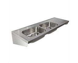 1800 Sink Double Bowl & Single RH Drainer 0T, HTM64 ST C