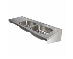 1800 Sink Double Bowl & Single LH Drainer 0T, HTM64 ST C