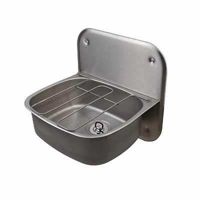 Wall Hung Bucket Sink With Splashback Amp Grid