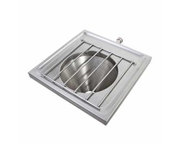 600 Wall Mounted Disposal Hopper, With Grating, Back Inlet