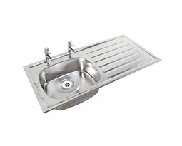 1028mm-Inset-Sink-RH-drainer-LH-sink-2-tap-holes-No-Overflow