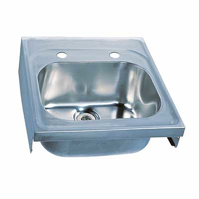 Hospital Sink 600x600 2 Tap Professional Products Twyford