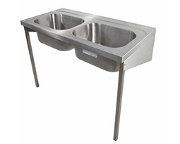1200 Hospital Sink Double bowl, no tapholes, HTM64 SK 2