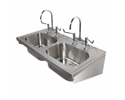 1200 Hospital Sink Double bowl, 2 Tap Holes, HTM64 SK 2