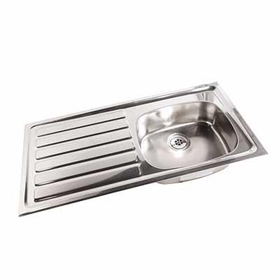 1028mm Inset Sink Lh Drainer Rh Sink 0 Tap Holes No