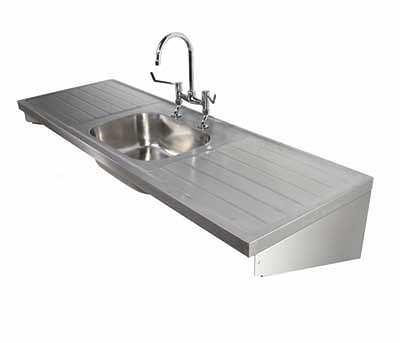 1800 Sink Single Central Bowl & Double Drainer 2T,1800x600 ...