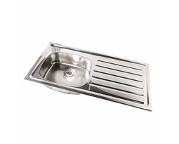 1028mm Inset Sink, RH drainer, LH sink, 0 tap holes, No Overflow