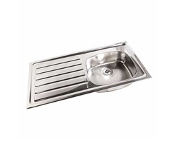 1028mm Inset Sink,LH drainer, RH sink, 0 tap holes , No Overflow