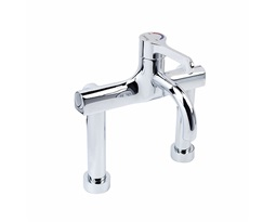 Sola-thermostatic-surgeons-mixer-lever-tap-deck-mounted-fixed-spout