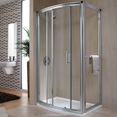 Hydr8 Bow Sliding Door 1200mm Shower Enclosures And